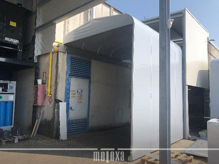 capannone tettoia industriale in pvc