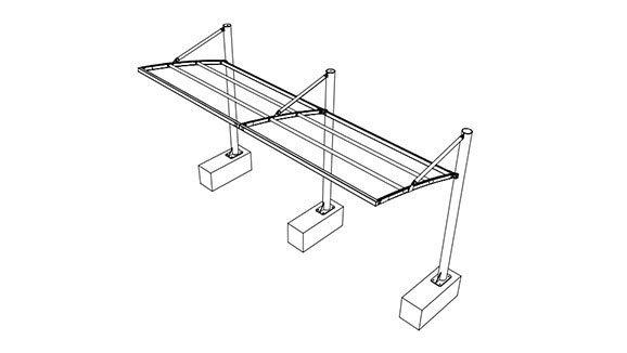 disegno tettoia per camper