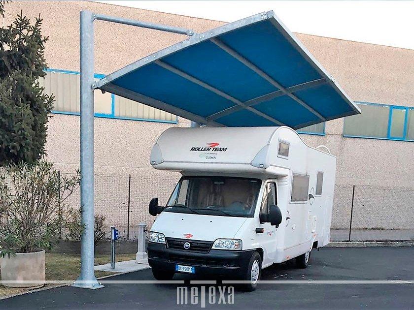 tettoie copertura camper caravan