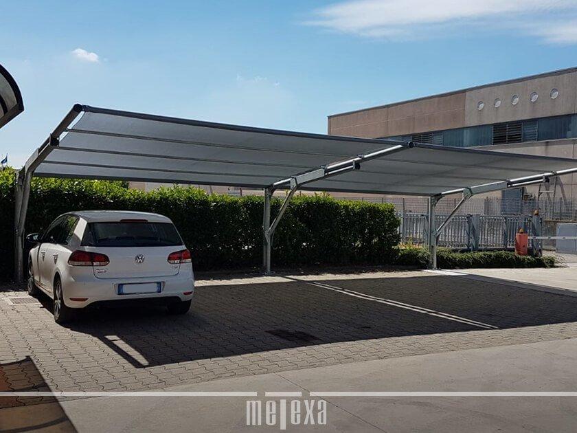 pensiline ombreggianti e antigrandine per auto MX12