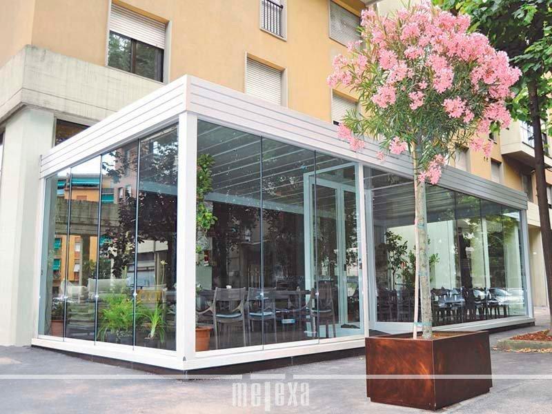 Dehor esterno per bar e ristoranti gazebo e pergolati metexa - Strutture in alluminio per esterno ...