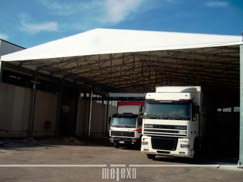 tensostrutture per magazzini industriali in pvc