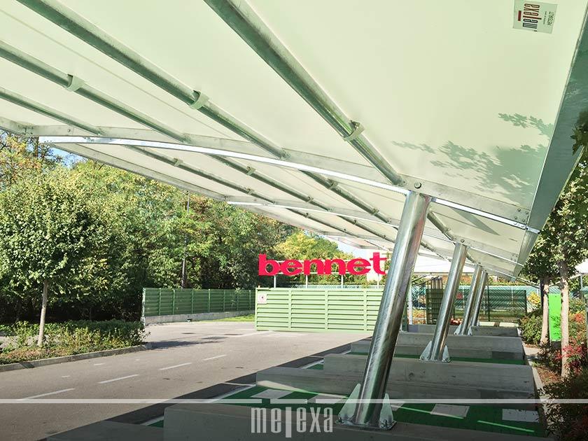 coperture auto centri commerciali