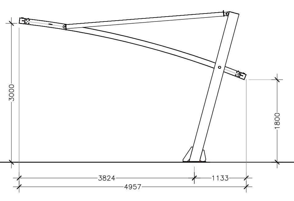 disegno tecnico misure tettoia auto mx20p