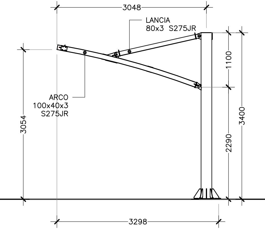 disegno tecnico tettoie per moto mx20cl