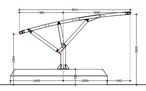 disegno tecnico pensiline auto con plinto interrato mx19zv