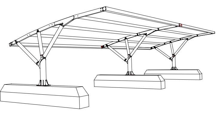 disegno tettoie auto rimovibili