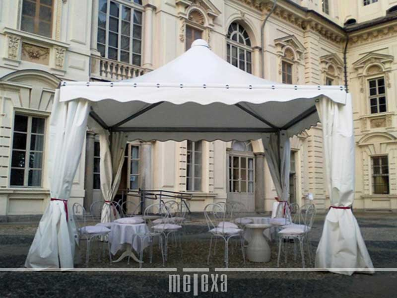 gazebo in pvc professionale