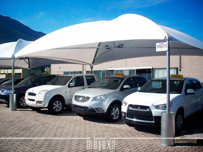 Gazebo per auto copertura versatile e robusta per vetture metexa