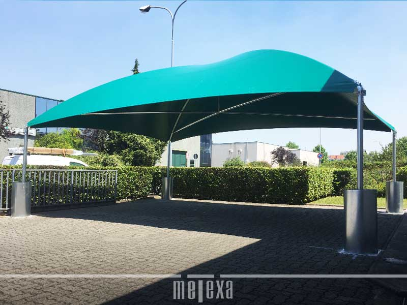 gazebo in ferro per auto gz34