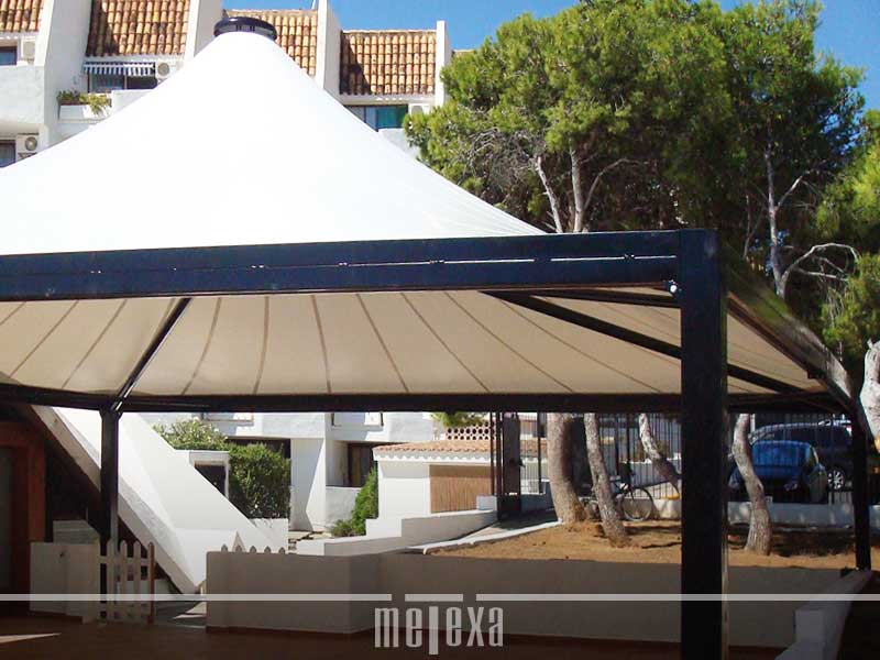 Gazebo in metallo e pvc GZ50