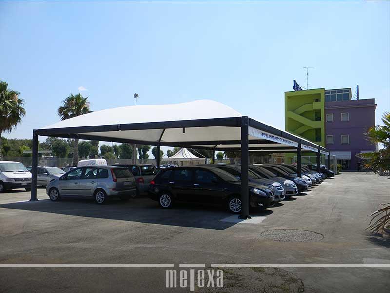 gazebo per posteggi auto