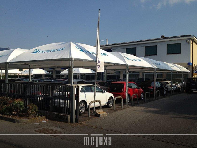 gazebo professionale per auto