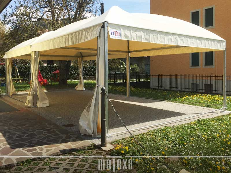 gazebo richiudibile pvc