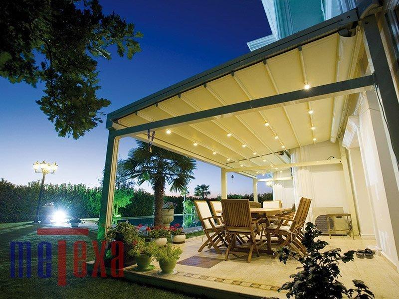 veranda con tettoia per esterno