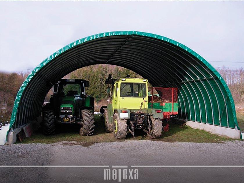 tunnel agricoli pvc per trattori e mezzi