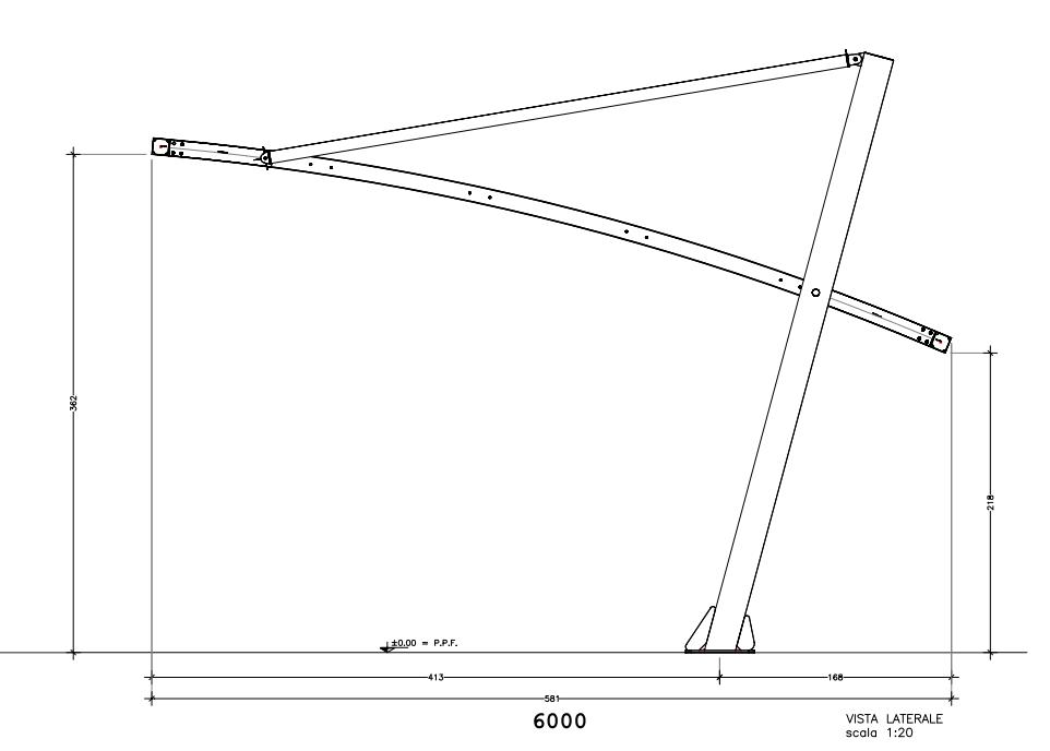 struttura copertura auto antigrandine