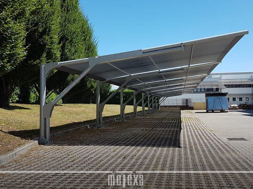 tettoie auto ombreggianti per parcheggi