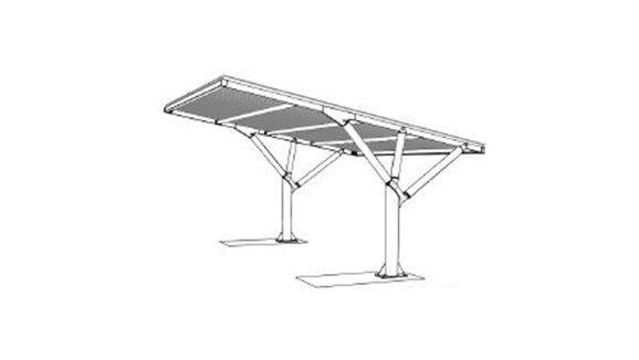 Disegno progettuale pensilina fotovoltaica