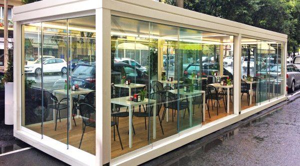 pergole bioclimatiche bar locali ristoranti