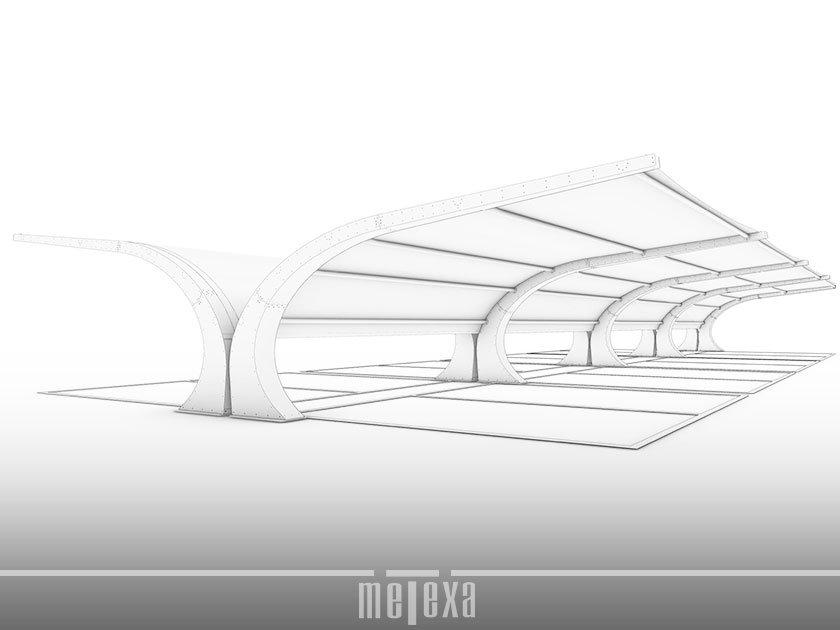 tettoia auto modulare Ibrid