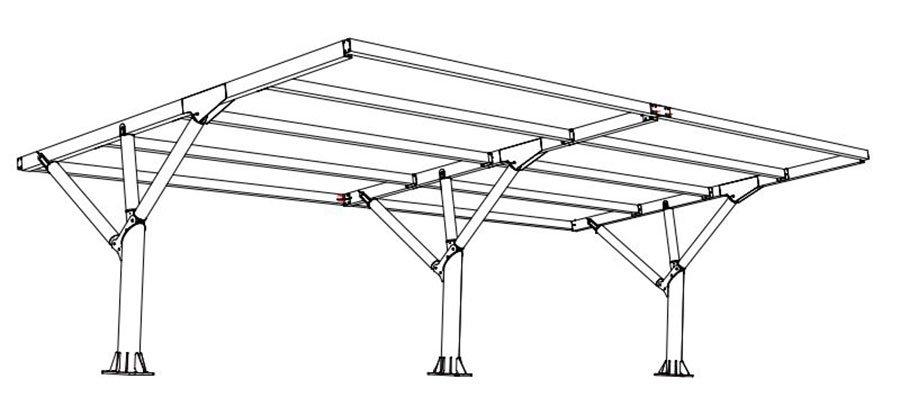 disegno tettoia auto mx19p