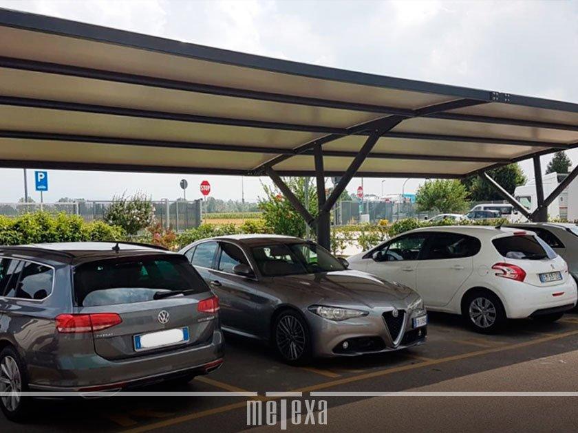 tettoia auto parcheggio aziendale