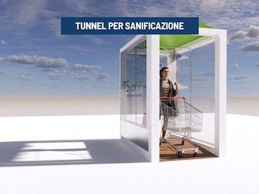 tunnel per sanificazione